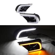 led drl neon type day time running light for toyota innova 2016