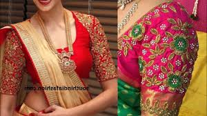 Full Embroidery Blouse Designs Embroidery Blouse Saree Rldm