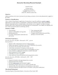 Secretary Resume Cover Letter And Cover Letter For A Secretary