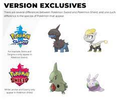 Pokemon Images: Pokemon Sword And Shield Version Differences Leaks