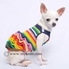 victorian colorful dog dresses fluffy ruffle chihuahua clothes