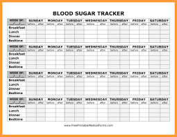 Blood Glucose Log Sheet Printable 7 Blood Sugar Log Sheet Types Of Letter