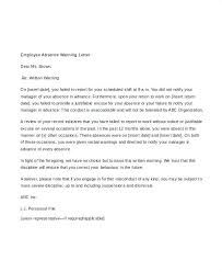 Employee Warning Notices Employee Warning Letter Template Verbal South Written