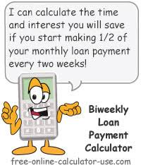 Monthly To Biweekly Loan Payment Calculator With Extra Payments