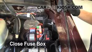 blown fuse check ford f super duty ford f  6 replace cover secure the cover and test component