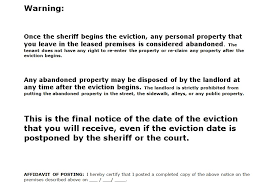 eviction notice template eviction notice