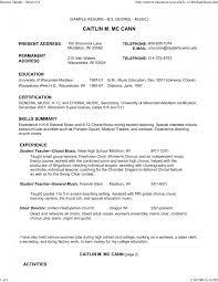 First Class Music Resume Template 13 Resume For Music Teacher