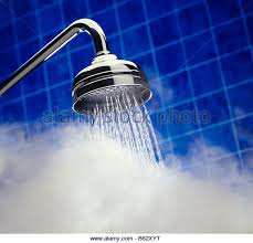 Hot Shower - Stock Image