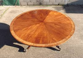 large round antique table 2 metres regency revival mahogany and crosbanded round pedestal table to seat 10 people comfortably