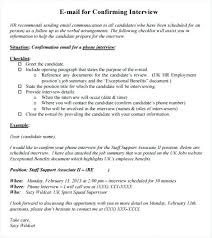 Template Resume Free Job Interview Confirmation Email Reply Sample