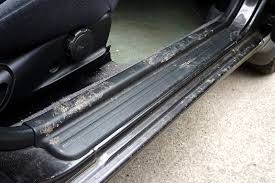 car door jamb. To Begin, Open Your Doors And Inspect The Area Around Jamb Rubber Seal. Then Remove Any Leaves That Are Trapped By Hand, Or Soft, Stiff Brush. Car Door