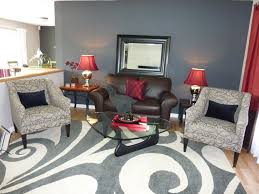 Red And Blue Living Room Red Accent Wall Living Room Design Ideas For House Family Room