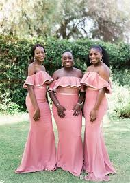 Watters Bridesmaid Size Chart 2019 Sexy Mermaid African Bridesmaid Dressesbodice Country Style Elegant Off The Shoulder Wedding Guests Dresses Cheap