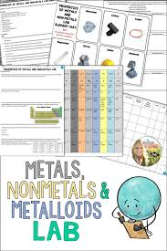 Chart Of Metals Nonmetals And Metalloids Metals Nonmetals And Metalloids Properties Lab Science