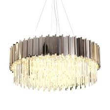 round gold chandelier contemporary design lighting hanging pendant lamp for art gallery lobby hall rose light