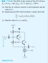 Microelectronic Circuits Solved Problem 12 38 Microelectronic Circuits 7th Editio