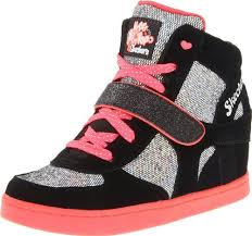 skechers shoes for girls kids. skechers girls / kids hydee plus 2; widden wedge fashion high tops trainers sneakers shoes for