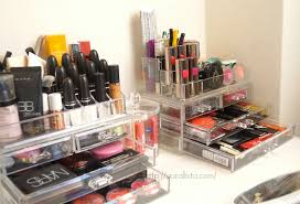 makeup storage idea clear acrylic cases