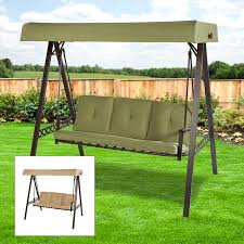 replacement canopy person swing beige riplock 3 person patio swing with canopy on costco patio furniture