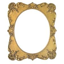 large antique oval picture frame ornate wood gesso vintage oval frame png