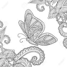 Kleurplaten Bloemen En Vlinders