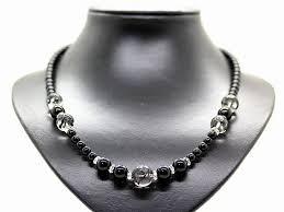 auc ishiki black dragon crystal 14mm onyx nature loadage in koku ball necklace power stone men rakuten global market