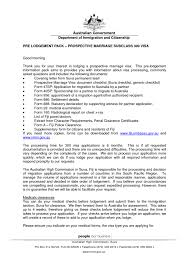 Sample Cover Letter For Partner Visa Application Australia