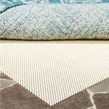 outdoor creme 5 ft x 8 ft non slip rug pad