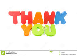 Word Thank You The Word Thank You Colourful Isolated Stock Photo Image Of