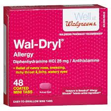 Wal Itin Dosage Chart Walgreens Wal Dryl Allergy Relief Coated Mini Tabs
