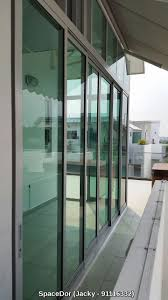 additional room with aluminium sliding glass door partition