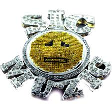 cj 0129 custom diamond sic muzic pendant