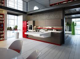 Fancy Kitchen Interior Design With Mdf Breakfast Bar Table And Latest Kitchen Interior Designs