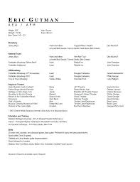 Musical Theater Resume Template Stunning Theatre Resume Format Resume Musical Theatre Resume Template Sample