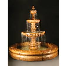 fiore mediterranean fountain w plumbed spacer fiore pond lg 134 fcr
