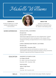 Resume Template Picture Free Receptionist Resume And CV Template In PSD MS Word Publisher 20
