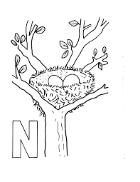 5 best images of free printable letter n coloring pages letter n