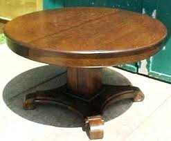 antique round oak pedestal dining table home styles tiger din