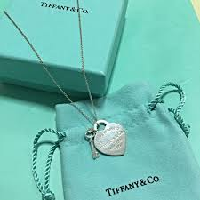 tiffany co return to tiffany necklace heart tag with key pendant women s fashion on carou