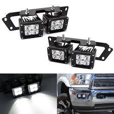 2012 Ram 2500 Fog Lights Led Pod Light Fog Lamp Kit For Dodge 2009 12 Ram 1500 10 18 Ram 2500 3500 4 20w Cree Led Cubes Fog Location Mounting Brackets Wiring Adapter