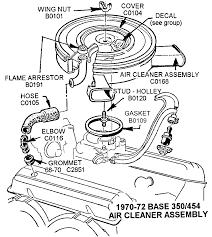 1970 72 base 350 454 air cleaner assembly diagram view chicago corvette supply