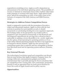 apple company external and internal environments essay  4 expenditures