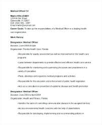 Environmental Officer Sample Resume Unique Junior Medical Officer Resume Curriculum Vitae Sample Health