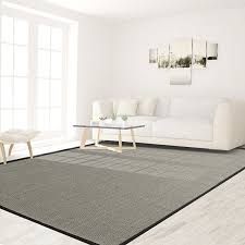 icustomrug silver grey natural fiber sisal area rug 6 feet x 9 feet 6 x