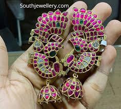 Ear Cuffs Indian Design Ruby Ear Cuff Jhumkas Indian Jewellery Designs