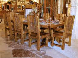 french country dinette design with wooden dining tables set 8 pieces solid wood veneers chairs