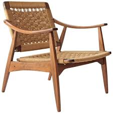 hans wegner style woven rope chair at 1stdibs