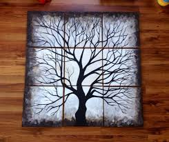 black and white tree 12x12 multi canvas painting naptimedesignsjd gmail  on wall art black and white trees with 11 best dandelion images on pinterest dandelions teething and