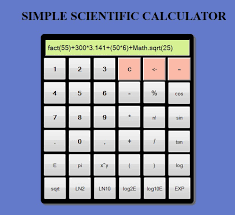 simple scientific calculator using html javascript and css  image