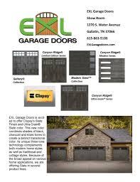 clopay slate finish garage doors